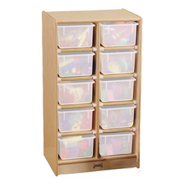 Baltic Birch 10-Cubby Mobile Storage Unit w/o Trays - Trays not included