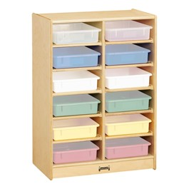 Baltic Birch Paper Tray Cubby Unit - 12 Cubbies w/o Trays - Trays not included