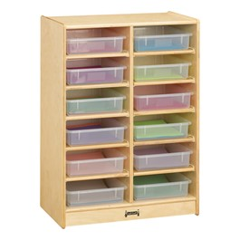 Baltic Birch Paper Tray Cubby Unit - 12 Cubbies w/ Clear Trays