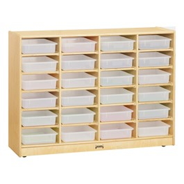 Baltic Birch Paper Tray Cubby Unit - 24 Cubbies w/o Trays - Trays not included