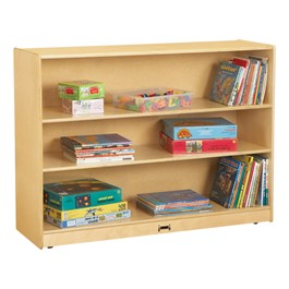 "Mobile Adjustable Bookcase w/out Lip (35 1/2"" H)"