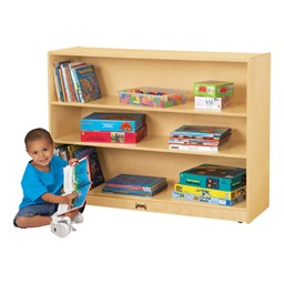 """Mobile Adjustable Bookcase w/out Lip (35 1/2"""" H)"""