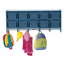 Rainbow Accents Wall-Mount Coat Rack w/o Cubby Trays - Blue - Cubby trays & accessories not included