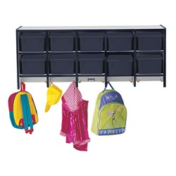 Rainbow Accents Wall-Mount Coat Rack w/o Cubby Trays - Navy - Cubby trays & accessories not included