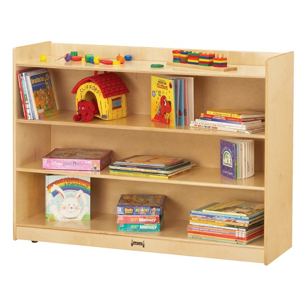 "Mobile Adjustable Bookcase w/ Lip (35 1/2"" H)"
