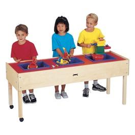"""Sensory Sand & Water Table w/ Three Tubs (20 1/2\"""" W x 59\"""" L x 24\"""" H)"""
