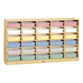 Baltic Birch Paper Tray Cubby Unit - 30 Cubbies w/o Trays - Trays not included