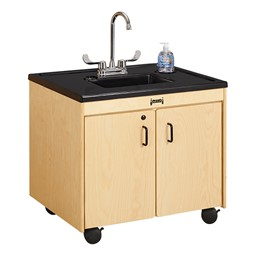 "Clean Hands Helper Portable Sink - 26"" Counter w/ Plastic Sink"