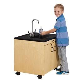 "Clean Hands Helper Portable Sink - 26\"" Counter w/ Plastic Sink"