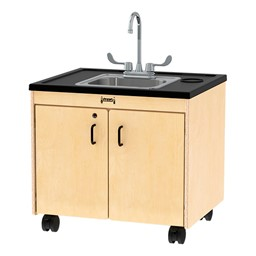 "Clean Hands Helper Portable Sink - 26"" Counter w/ Stainless Steel Sink"