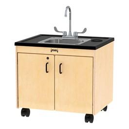 "Clean Hands Helper Portable Sink - 26\"" Counter w/ Stainless Steel Sink"