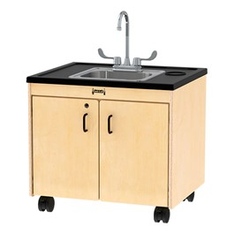 "Clean Hands Helper Portable Sink - 26"" Counter w/ Stainless Steel Sink"