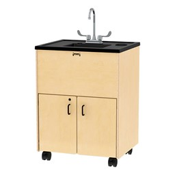 "Clean Hands Helper Portable Sink - 38"" Counter w/ Plastic Sink"