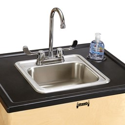 "Clean Hands Helper Portable Sink - 38"" Counter w/ Stainless Steel Sink"
