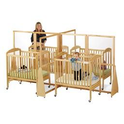 See-Thru Crib Divider - Quad - Shown w/ cribs