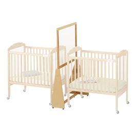 See-Thru Crib Divider - Small - Shown w/ cribs