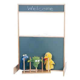 Multi-Play Space Saver Screen - Chalkboard - Puppet stand and accessories not included