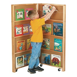Mobile Library Bookcase<br>Shown w/ two sections
