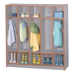 Rainbow Accents Open Five-Section Locker w/o Step - Orange - Accessories not included