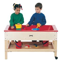 "Sensory Sand & Water Table w/ One Tub, Shelf & Lid (22\"" W x 42\"" L x 24\"" H)"