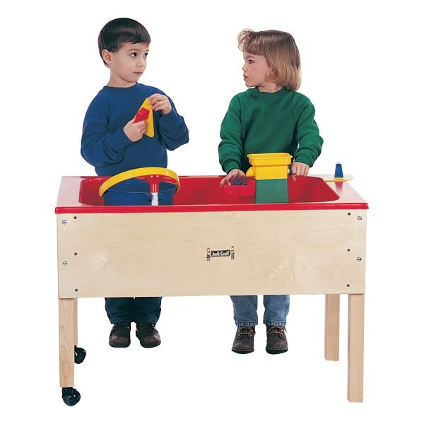 "Sensory Sand & Water Table w/ One Tub & Lid (23"" W x 36 1/2"" L x 24"" H)"