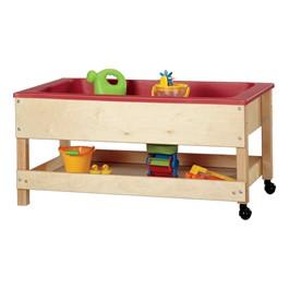 "Sensory Sand & Water Table w/ One Tub, Shelf & Lid (22\"" W x 42\"" L x 20\"" H)"