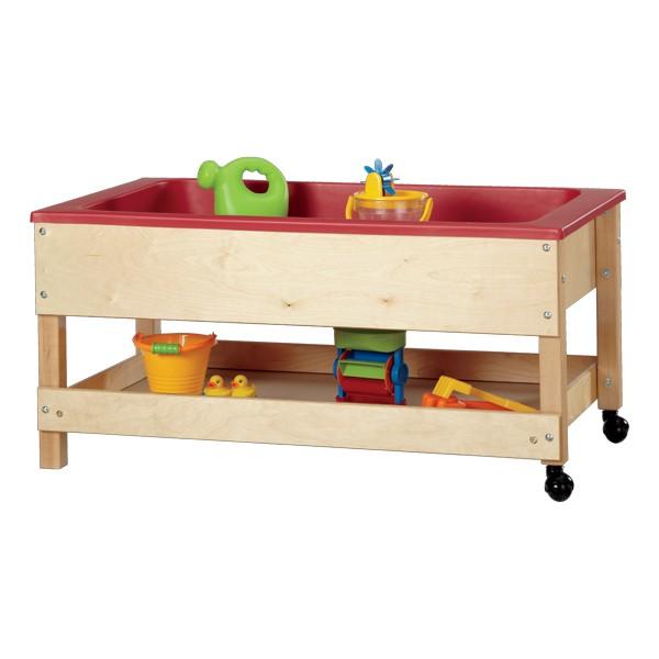 "Sensory Sand & Water Table w/ One Tub, Shelf & Lid (22"" W x 42"" L x 20"" H)"
