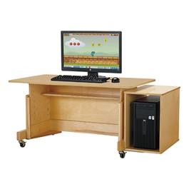 Apollo Single Computer Desk - Maple Top