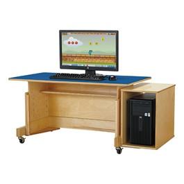 Apollo Single Computer Desk - Blue Top