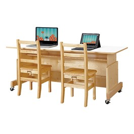 Apollo Double Computer Desk - White Top