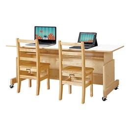 Apollo Double Computer Desk - White Top