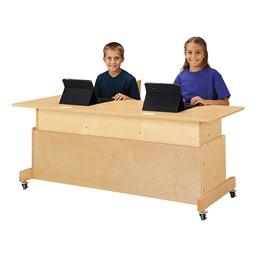 Apollo Double Computer Desk - Maple Top