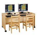 MapleWave Enterprise Double Computer Desk