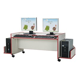 Rainbow Accents Enterprise Double Computer Desk