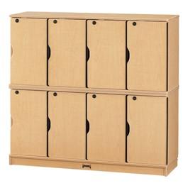 Baltic Birch Stackable Lockers - Double Stack