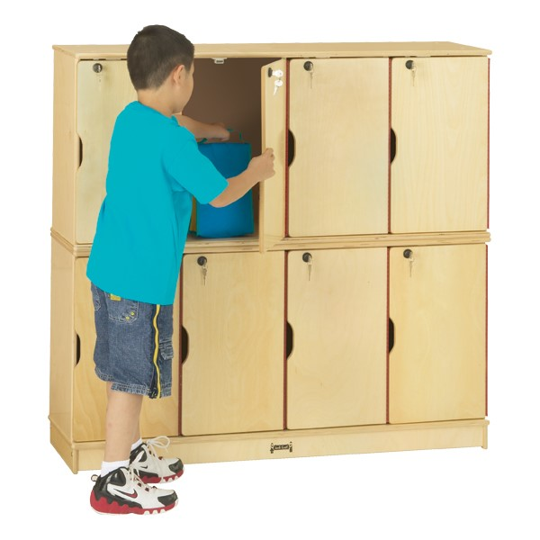 Baltic Birch Stackable Lockers - Double Stack