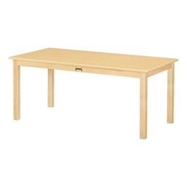 """Large Rectangle Baltic Birch Activity Table (24\"""" W x 48\"""" L) - Maple Top"""