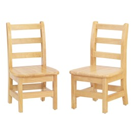 "Ladder Back Chair - Set of Two (8"" Seat Height)"