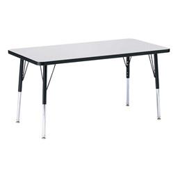 Rectangle Preschool Activity Table - Gray
