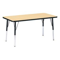 Rectangle Preschool Activity Table - Maple