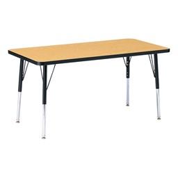Rectangle Preschool Activity Table - Oak