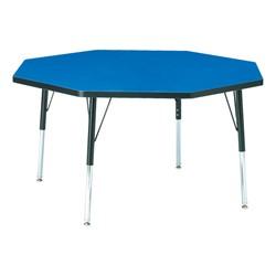 "Octagon Preschool Activity Table (48"" Diameter) - Blue"