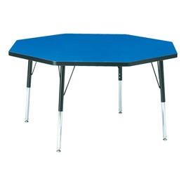 "Octagon Preschool Activity Table (48\"" Diameter) - Blue"
