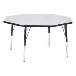 "Octagon Preschool Activity Table (48"" Diameter) - Gray"