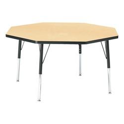 "Octagon Preschool Activity Table (48"" Diameter) - Maple"
