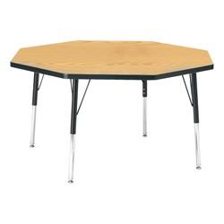 "Octagon Preschool Activity Table (48"" Diameter) - Oak"