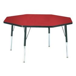 """Octagon Preschool Activity Table (48"""" Diameter) - Red"""