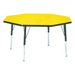 """Octagon Preschool Activity Table (48"""" Diameter) - Yellow"""