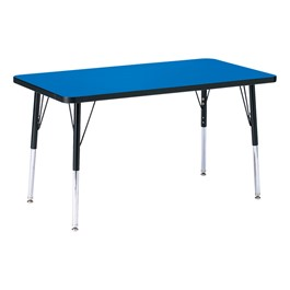 Rectangle Preschool Activity Table - Blue