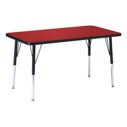 Rectangle Preschool Activity Table - Red